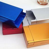 Étui à cigarettes en alliage de zinc Cigarette Porte-poche Porte-poche Boîte de rangement