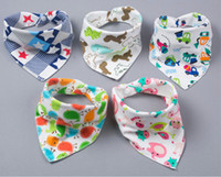 52 Designs Cotton printing Baby Bibs Saliva Towel Infant Tod...