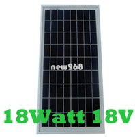 Freeshipping 18 W 18 V Painel Solar de silício policristalino usado para 12V sistema de energia fotovoltaica em casa, 18Watt 18WP 12VDC PV módulo solar Poly