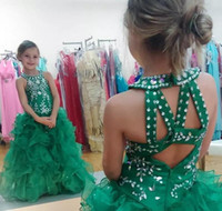 2018 Cute Green Girls Pageant Dresses Glizta Cupcake Dresses...