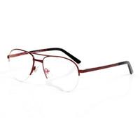 Wholesale-moda marca óculos de sol para homens unisex buffalo chifre óculos homens mulheres meia quadro prescrição glasse sol óculos quadro Óculos