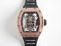 EUR Factory produziert die hochwertigste Tourbillon-Bewegung RM052 Uhr Importiert Gummiband Saphir Kristallglas mit 42,7 mm Aviation Ti