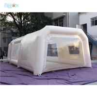 공장 공급 업체 풍선 자동차 텐트 하우스 모양 텐트 풍선 스프레이 부스 풍선 페인트 부스와 창