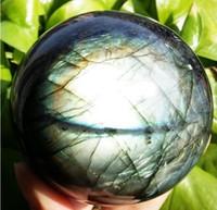 New ++ + 72 NATURAL Labradorite Cristal Sphere Bola Orb em pedra B1