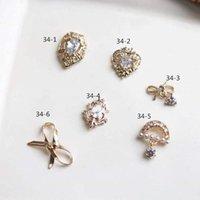 10pcs / lot coração Bow 3D amor liga Cristais prego Nail Art jóias strass unhas acessórios suprimentos decorações encantos