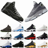 Con Box 13 Cap and Gown Atmosphere Grigio 2019 Uomini Scarpe da basket Sneakers economici 13s Flint Barons Basket Ball Shoes Sport di alta qualità