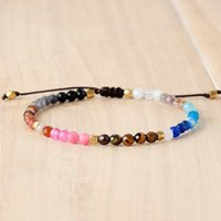 in stock Lucky Stone Bracelet Jewelry Colorful 4mm Beads Sem...