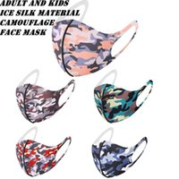 Adult And Kids Camouflage Face Mask Ice Silk Material Anti Dust Mouth Muffle Reusable Camo Face Masks ZZA2091 120Pcs