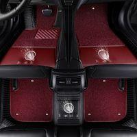 Maßgeschneidert Auto-Fußmatten für Cadillac Abzeichen Logo ATS CTS XT5 XTS SRX SLS Escalade 3D-Auto-Styling Allwetterteppichboden Liner