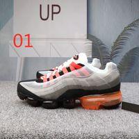 2019 95 أحذية الرجال الأحذية الرياضية 95 OG الرجال النساء 95s الرجال الأحمر الأصفر النيون الأبيض حذاء رياضة حذاء رياضة حجم 36-45