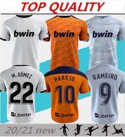 2020 2021 Valencia Camiseta de Fútbol 20/21 Rodrigo Parejo Kang em Gameiro Gaya Guedes C.Soler Camisa de Futebol