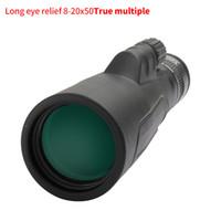 SCOKC أحادي العين 8-20x50 عالية بالطاقة التكبير احادي العين-تلسكوب FMC BAK4 موشور للصيد حفلات السفر الحياة البرية مشهد T191014