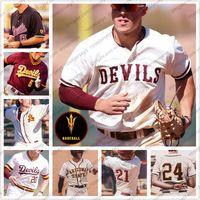 Özel 2020 Arizona Devlet Güneş Şeytanlar Beyzbol # 20 Spencer Torkelson 18 Trevor Hauver 27 Hunter Jump ASU Erkekler Gençlik Kid Kadın Jersey 4XL