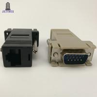 جودة عالية محول شبكة الكابل VGA موسع ذكر إلى LAN CAT5 CAT5e CAT6 RJ45 أنثى