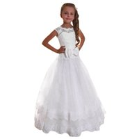 Baby Girl Clothes Bambini Kids Girl Bowknot Princess Formal Wedding Party senza maniche Abito Tutu