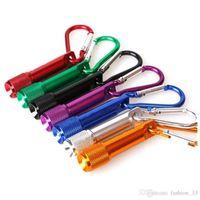 카라비너 고리 열쇠 고리 열쇠 고리 스포츠 미니 미니 LED 손전등 알루미늄 합금 토치 손전등을 주도 도매 키 체인 키 링 YD03