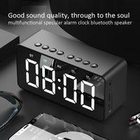 BT506 المتكلم المحمولة راديو fm boombox يدوي coluna بلوتوث في الهواء الطلق داخلي دعم aux tf مرآة المنبه الصوت موجه