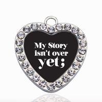 Моя история еще не закончена точка с запятой движение Круг очарование Медный кулон для ожерелье браслет разъем женщины подарок ювелирные изделия аксессуары