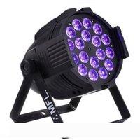 18x18w 6in1 RGBW + Ambre + UV LED colorée Par lumière DMX pour la phase d'éclairage Concert Party Théâtre Night Club