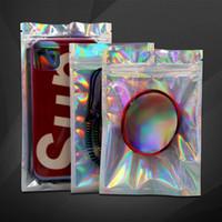 Presentes de máscara de zip-fechamento translúcido translúcido holográfico Presentes de embalagem único pacote de empacotamento pacote de embalagens zíper sacos de plástico frete grátis