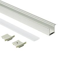 23.1x27.3mm Alloggiamento del profilo in alluminio a led per montaggio superficiale ed estrusione di profilo a T con copertura lattea per PC per lampada da parete a soffitto o incasso