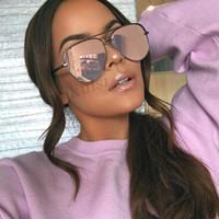مصمم ماركات عالمية- النساء أزياء العلامة التجارية نظارات شمس إمرأة المتضخم الطيار نظارات شمسية للمرأة الأزياء ظلال UV400 هلالية فام