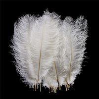 Soft За много 10-16 дюймов белый перо страуса Plume Craft Supplies Свадеб Таблица Centerpieces украшения Бесплатная доставка