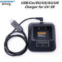 Baofeng UV5R USB / EU / US / AU / UK / Auto-Ladegerät für Baofeng UV5R UV-5RE DM-5R Plus-Walkie Talkie UV5R Ham Radio UV 5R