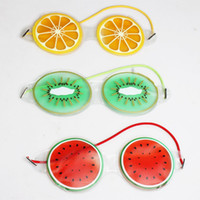 Hielo Gel Eye Mask compresa fría fruta linda forma de alivio de la fatiga del ojo del gel de refrigeración Eye Care Herramientas de relajación RRA1667