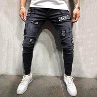Jeans pour hommes Fashion Crayon Pantalon Stretch Thoue Denim Denim Détoné Pantalon Freed Freyed Pantalon Slim Fit Pocket YL5