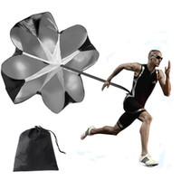 Oluk Futbol Patlayıcı gücünü belirleyen çalışma Paraşüt Koşu Açık Spor Hız Direnç Eğitim Paraşüt Açık Egzersiz Ekipmanları