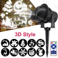 LED-effekter 5W 3D roterande projektor Jul tema med kontroller Vattentät för Halloween Brightday Party Stage Lighting DHL