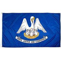 Pirinç Grometler Ücretsiz Denizcilikte ile Louisiana Eyalet Bayrağı 3x5FT 150x90cm Polyester Baskı Kapalı Açık Asma Sıcak Satış Ulusal Bayrak