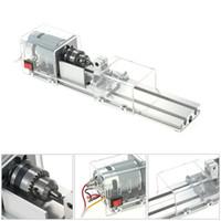 Freeshipping Us Plug Mini máquina de granos de torno 100W Carpintería Diy Torno Pulido Corte Mini Taladro Herramienta rotativa Conjunto estándar