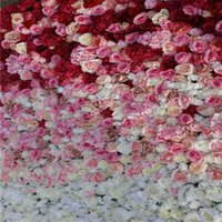 Artificial mix penoy hydrangea rose wedding ombre backdrop f...