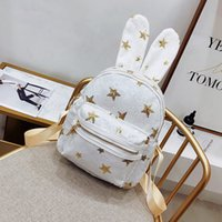 Star Sequins Rabbit Ear Backpack Girls Sequins School Bags F...
