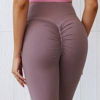 Leggings Stretchy cintura alta volta Ruched Legging Butt Lift Pants Hip Push up Workout de Nova Sexy Mulheres estiramento Capris Deporte Mujer