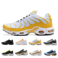 Classic TN Plus Yellow White Running Shoes Mens Trainers Out...