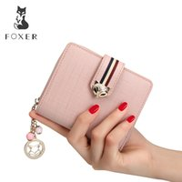 Foxer Brand Women Cow Leather Wallets Famous Designer Coin Purse Girl Fashion High Quality Short Wallet For FemaleMX190824