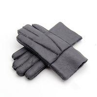 Fashion-Classic hommes nouveaux gants 100% cuir gants de laine de haute qualité dans plusieurs couleurs livraison gratuite