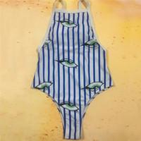 새로운 여성 원피스 수영복 2018 화이트 블루 스트라이프 비키니 눈 인쇄 된 비치웨어 수영복 섹시 모노 키니 수영복 푸시 업