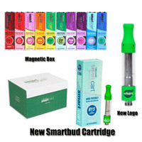 Neues Logo Smart Carts Vape Cartridges 1.0ml Keramikspule Smart Carts Dampftank 21 Geschmacksrichtungen 1g Top Filling No Leak Design von Smartbud