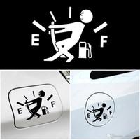 Komik Araç plakası Çekme Yakıt Deposu Pointer için Tam Hellaflush Yansıtıcı Vinil Araç Sticker çıkartma Toptan