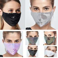 Moda Bling Payetler Yıkanabilir PM2.5 Yüz Kalkanı Çok renkli Pullarda Parlak Yüz Kapak Ağız Maskeleri Anti-toz Ağız DHL HH9-3104 Maskesi