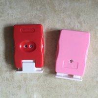 registro 1pcs Woven Registrati Rosso / Rosa ABS maglione ferro da calza strumento contatore fai da te a mano Pulsante manuale a maglia