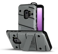 TPU + PC Hybrid Kickstand Impact Rugged Armor Case per Samsung Galaxy S8 S9 Plus Note 8 9 J3 J7 J7 2017 Cover protettiva antiurto