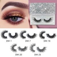 3D cílios vison cílios falsos individuais mink eye lash suave natural grosso cruz falso cílios extensão de beleza ferramentas gga2267