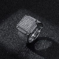 Hip Hop Mens Jewelry Rings Diamond Iced Out Bling Rings High...