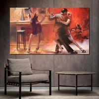 pinturas a óleo Retrato abstrato Willem Haenraets Cafe bares Tango pintados à mão reprodução moderna da arte da lona