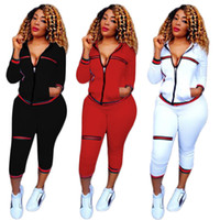 Femmes Jogging Costumes Workout Vêtements pour femmes 2 Pièce Fitness Set Femmes Sports Wear Hoodie Survêtement Vêtements de Jour En Plein Air